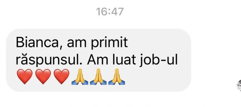 Client got the job
